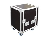 "Flight case • Rack 19""- 12U capot avant /arriere, profondeur 450mm + roulettes-flight-cases-tradition-pro"