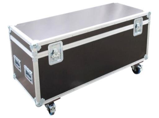 Flight case • Malle classique 800 x 400 x 400 mm + 4 roulettes