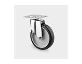 Roulette • Tente sans frein grise Ø75 mm charge statique 120kg-roulettes