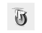 Roulette • Tente avec frein grise Ø75 mm charge statique 120kg-roulettes