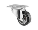 Roulette • Tente sans frein noire Ø100 mm forte charge statique 400kg-flight-cases
