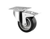 Roulette • Tente avec frein noire Ø100 mm forte charge statique 400kg-flight-cases