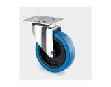 Roulette • Tente sans frein bleue Ø100 mm charge statique 140kg-roulettes