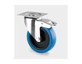 Roulette • Tente avec frein bleue Ø100 mm charge statique 140kg-flight-cases
