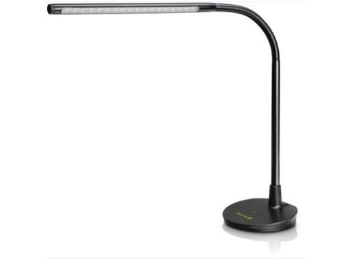 Lampe LED pour pupitre sur socle, 18 LEDs, col de cygne flexible 280mm
