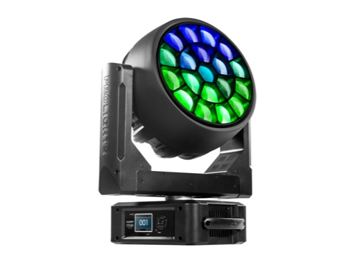 PROLIGHTS • Lyre Wash matricée STARK1000 full RGBW 19x40 W, zoom 3-45°