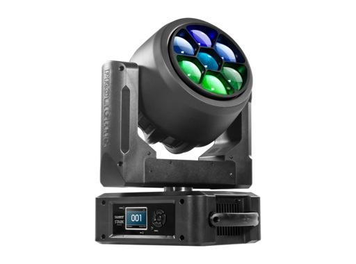 PROLIGHTS • Lyre Wash matricée STARK400 full RGBW 7x40 W, zoom 3-45°