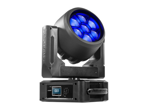 PROLIGHTS • Lyre Wash non matricée STARK400CC full RGBW 7x40 W, zoom 3-45°