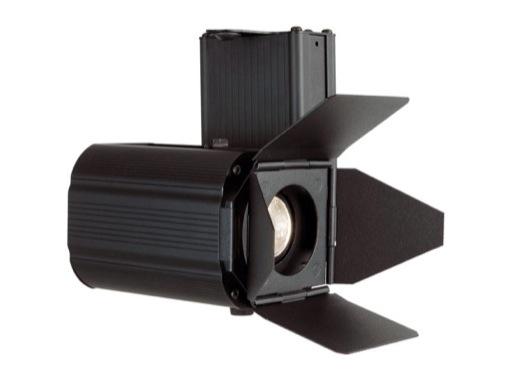MINITWINLED • Projecteur noir LED 30W 3000K 50°+ volets et adaptateur rail 3 all