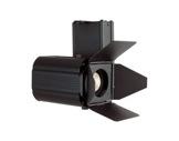 AVOLA • Projecteur noir LED 30W 3000K 50°+ volets et adaptateur rail-ponctuels
