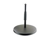 K&M • Pied de table noir embase circulaire 25 cm Hauteur 217 à 347 mm-audio