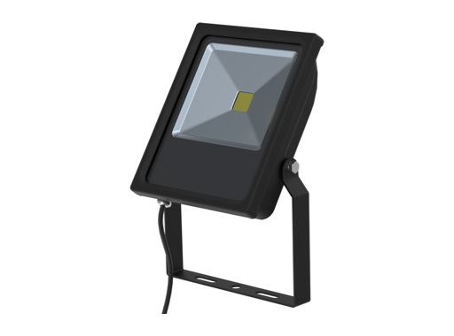 Projecteur noir Flood Light Slim Led 30W blanc 2780lm IP65
