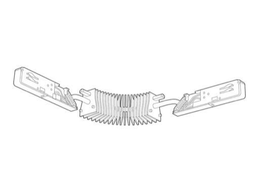 SLI • Coupleur flexible blanc pour rail Lytespan 3 L3