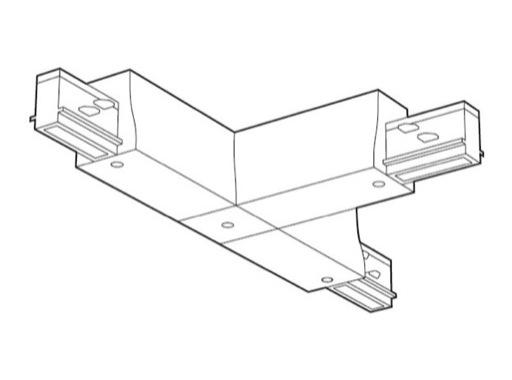 SLI • Coupleur noir en T gauche pour rail Lytespan 3 L3