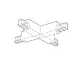 SLI • Coupleur noir en X pour rail Lytespan 3 L3-eclairage-archi--museo-