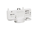 PROLIGHTS • Adaptateur rail 3 allumages blanc pour MINIECLIPSE / DISPLAYCOB-eclairage-archi-museo