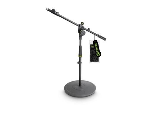 GRAVITY • Pied micro court à base ronde et perchette télescopique