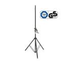GRAVITY • Pied d'enceinte alu à crémaillière 50 kg, ø 35 mm, Ht 1500 à 2400 mm-audio