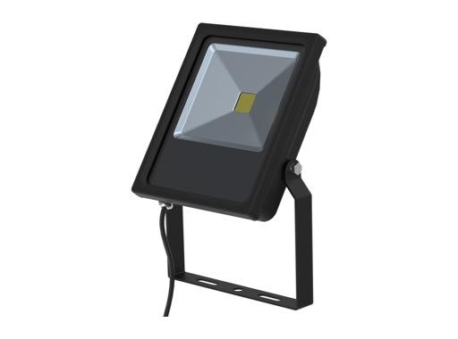 Projecteur noir Flood Light Slim Led 30W blanc chaud 2710lm IP65