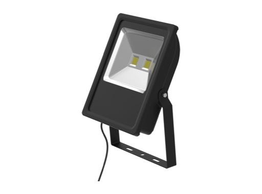 Projecteur noir Flood Light Slim Led 100W blanc 9640lm IP65