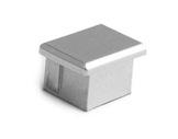 ESL • Embout plein teinte métal pour profilé gamme PDS4-accessoires-de-profiles-led-strip