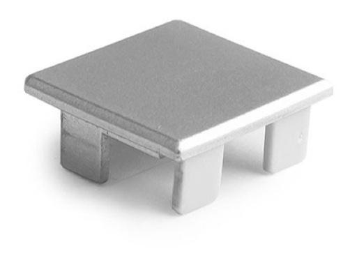 ESL • Embout plein teinte métal pour profilé gamme LIPOD