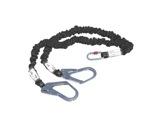 ANTICHUTE • Absorbeur d'énergie longe double 140 cm + crochets et mousqueton-anti-chutes