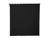 Pendrillon noir L 2m H 8m 320g/m2 - TAPS Molleton Coton classé M1-pendrillons--rideaux-de-scene