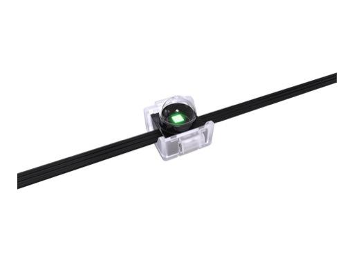ENTTEC • Pixel Dots dôme clair carré 16mm 50 LEDs RGB pitch 100mm 5V IP67 noir