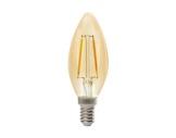 Lampe LED RETRO flamme claire 2,3W 230V E14 2400K 200lm 15000H • SYLVANIA-lampes-led
