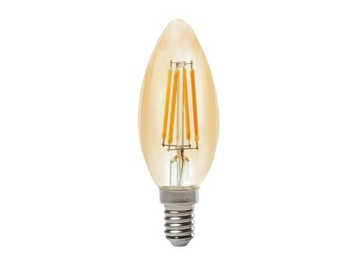 SLI • LED RETRO flamme claire 3,9W 230V E14 2400K 400lm 15000H