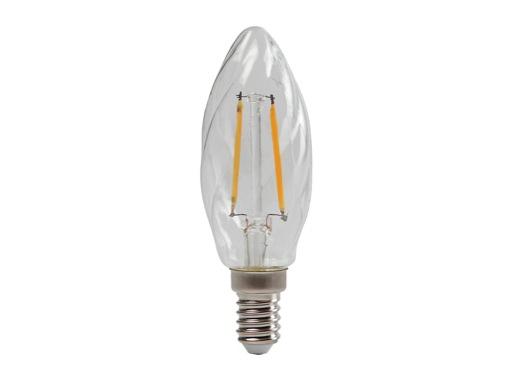 SLI • LED RETRO flamme claire torsadée 2,3W 230V E14 2700K 250lm 15000H
