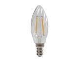 Lampe LED RETRO flamme claire torsadée 2,3W 230V E14 2700K 250lm 15000H • SLI-lampes-led