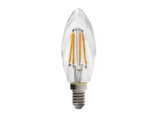SLI • LED RETRO flamme claire torsadée 3,9W 230V E14 2700K 420lm 15000H