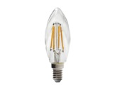 SLI • LED RETRO flamme claire torsadée 3,9W 230V E14 2700K 420lm 15000H-lampes