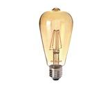 Lampe LED RETRO ST64 ambrée 4W 230V E27 2400K 400lm 15000H • SYLVANIA-lampes-led