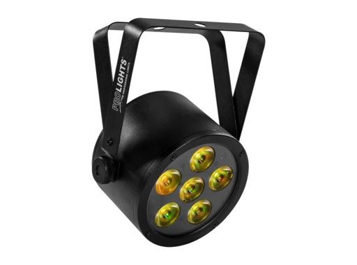 PROLIGHTS • Projecteur sur batterie BATPAR6UTRI 6 LEDs Full RGB 3 W