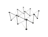 PROTRUSS • LITESTAGE Support alu pliable hauteur 20cm pour plateau 100 x 100cm-structure--machinerie
