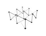 LITESTAGE • Support alu pliable hauteur 40cm pour plateau 100 x 100cm-structure-machinerie