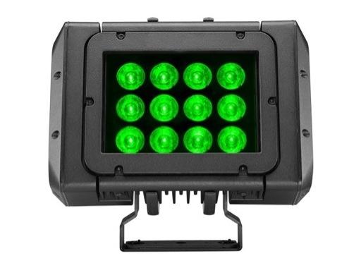 DTS • Projecteur MINI BRICK Full RGBW 12 x 20 W IP65 8° + filtres holographiques