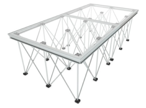 LITESTAGE • Plateau Plexiglas de 200 x 100 x 9cm usage intérieur / extérieur