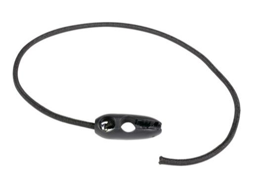 SANDOW AUTOBLOQUANT • Attache noire 50 cm ø5mm avec olive bloquante sertie