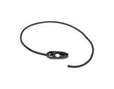 SANDOW AUTOBLOQUANT • Attache noire 50 cm ø5mm avec olive bloquante sertie-textile