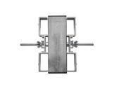 PROTRUSS • Double agrafe pour pied aluminium série Roadstage-praticables