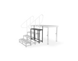 PROTRUSS • Marchepied hauteur 80cm série Roadstage-praticables
