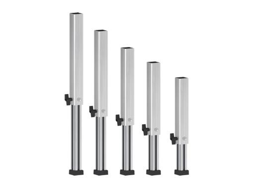 PROTRUSS • Pied aluminium télescopique hauteur 60 à 100cm série Roadstage