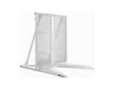MILOS • Barrière de foule 1m en aluminium angle variable de 120° à 240°-barriere-de-foule