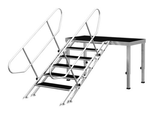 PROTRUSS • Escalier 5 marches hauteur 100cm série Roadstage