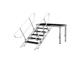 PROTRUSS • Escalier 5 marches hauteur 100cm série Roadstage-praticables