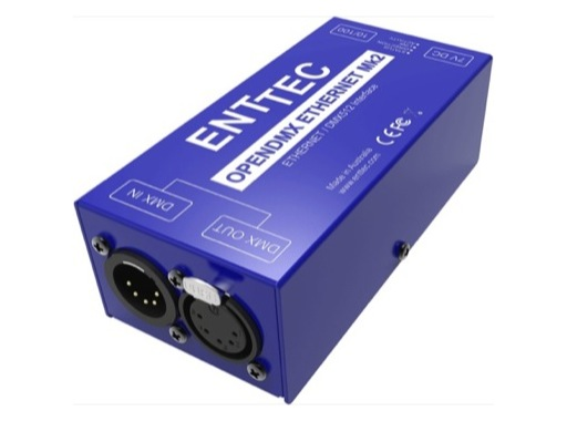 ENTTEC • Boitier OPEN DMX ETHERNET (ODE MK2 POE)